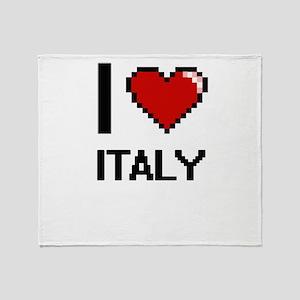 I Love Italy Digital Design Throw Blanket
