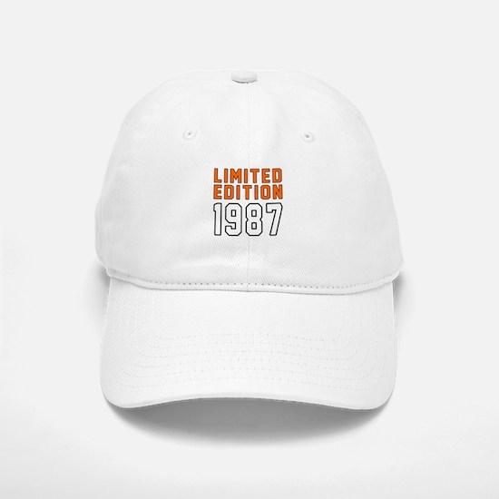 Limited Edition 1987 Baseball Baseball Cap
