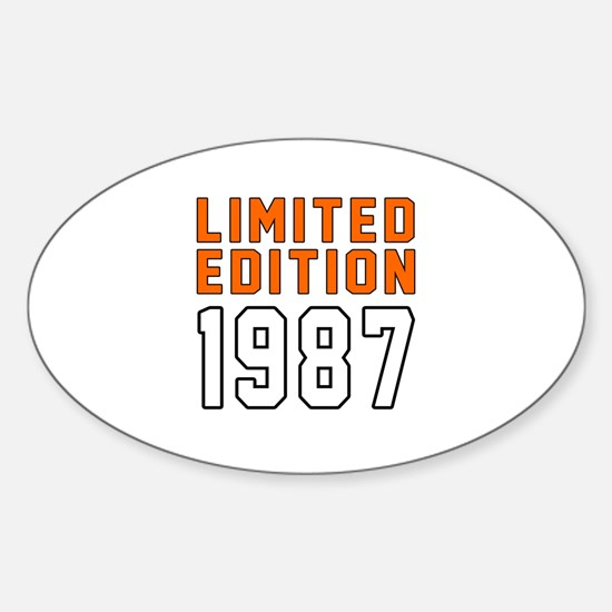 Limited Edition 1987 Sticker (Oval)