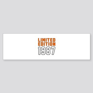 Limited Edition 1987 Sticker (Bumper)