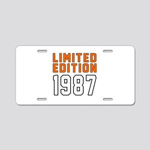 Limited Edition 1987 Aluminum License Plate