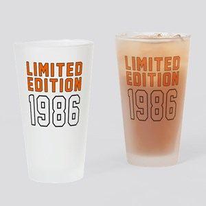 Limited Edition 1986 Drinking Glass