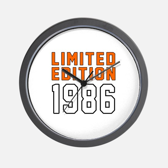 Limited Edition 1986 Wall Clock