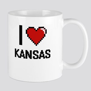 I Love Kansas Digital Design Mugs