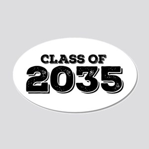 Class of 2035 20x12 Oval Wall Decal