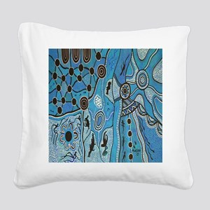Tribal Lands Square Canvas Pillow