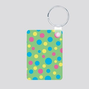 Colorful polka dots pattern Keychains