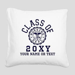 Class of 20?? Nursing Square Canvas Pillow