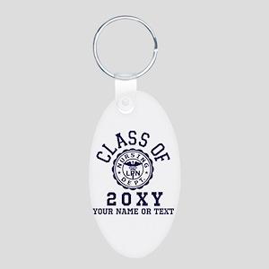 Class of 20?? Nursing Aluminum Oval Keychain