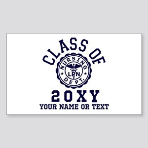 Class of 20?? Nursing Sticker (Rectangle)