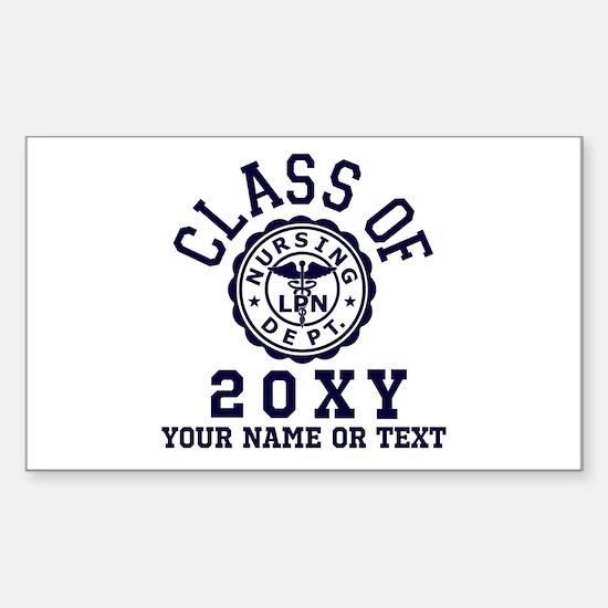 Class of 20?? Nursing Sticker (Rectangle)