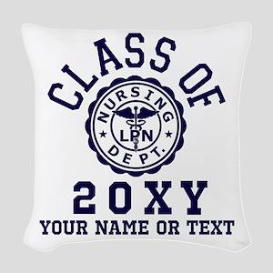 Class of 20?? Nursing Woven Throw Pillow