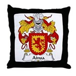 Ainsa Family Crest Throw Pillow