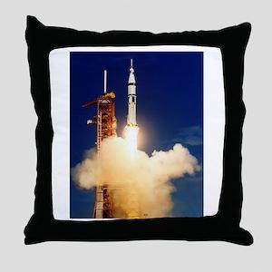 Launch of Apollo's Saturn 1B Rocket Throw Pillow