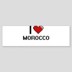 I Love Morocco Digital Design Bumper Sticker
