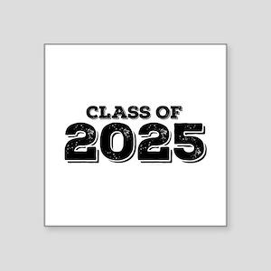 "Class of 2025 Square Sticker 3"" x 3"""