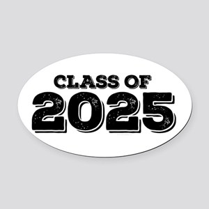 Class of 2025 Oval Car Magnet