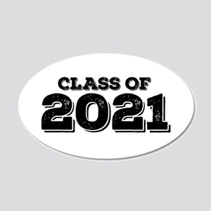 Class of 2021 20x12 Oval Wall Decal