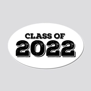 Class of 2022 20x12 Oval Wall Decal