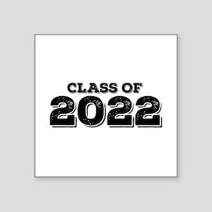 "Class of 2022 Square Sticker 3"" x 3"""