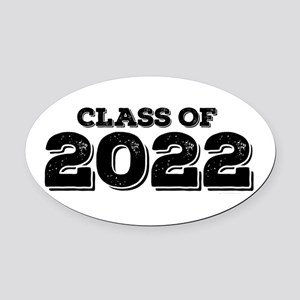 Class of 2022 Oval Car Magnet