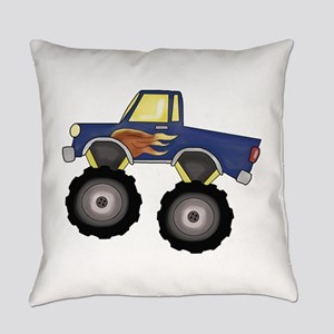 Blue Monster Truck Everyday Pillow