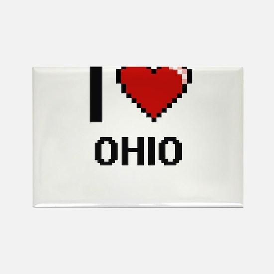 I Love Ohio Digital Design Magnets
