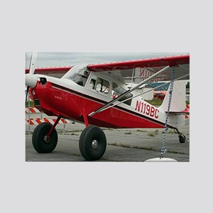 Aircraft (red & white) at Lake Ho Rectangle Magnet