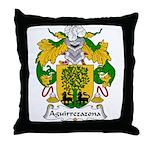 Aguirrezazona Family Crest Throw Pillow