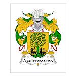 Aguirrezazona Family Crest Small Poster