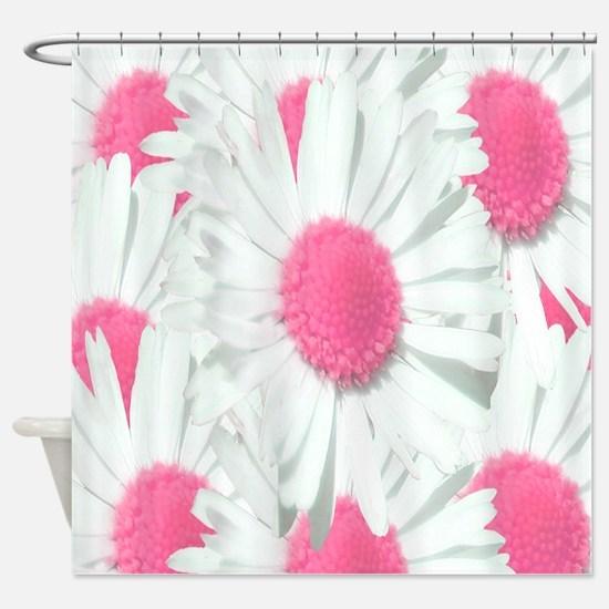 Unique Pink daisy garden Shower Curtain