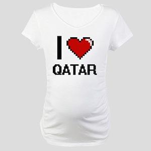 I Love Qatar Digital Design Maternity T-Shirt