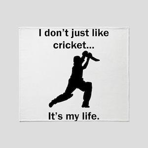 Cricket Its My Life Throw Blanket