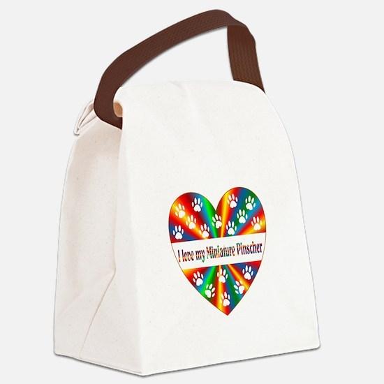 Miniature Pinscher Love Canvas Lunch Bag