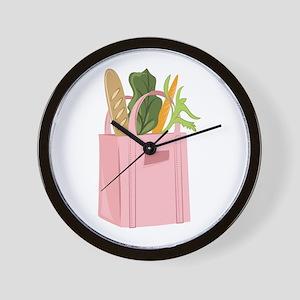 Bag Of Groceries Wall Clock