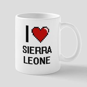 I Love Sierra Leone Digital Design Mugs