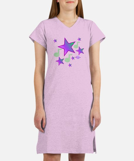 Starlight Lullaby Purple Stars Women's Nightsh