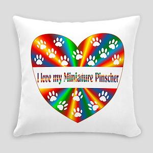 Miniature Pinscher Love Everyday Pillow
