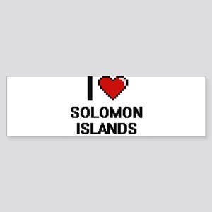 I Love Solomon Islands Digital Desi Bumper Sticker