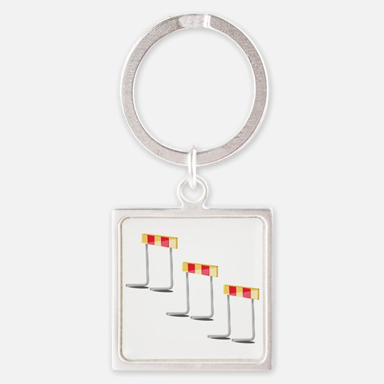 Race Hurdles Keychains