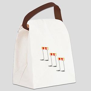 Race Hurdles Canvas Lunch Bag