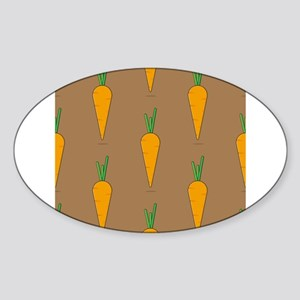 carrots on brown Sticker