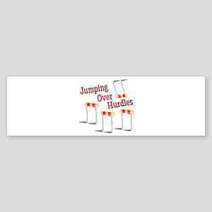 Jumping Hurdles Bumper Sticker