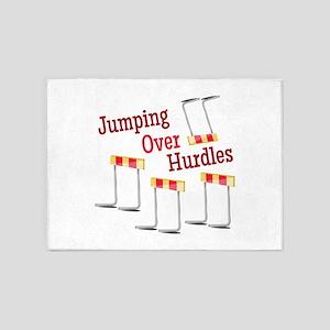 Jumping Hurdles 5'x7'Area Rug