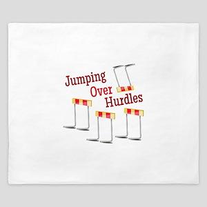 Jumping Hurdles King Duvet