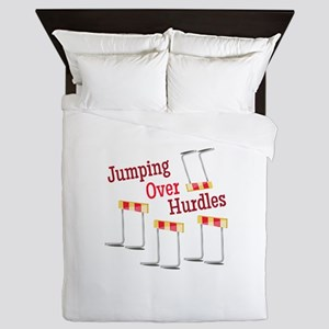 Jumping Hurdles Queen Duvet