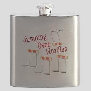 Jumping Hurdles Flask