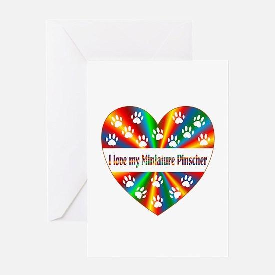 Miniature Pinscher Love Greeting Card
