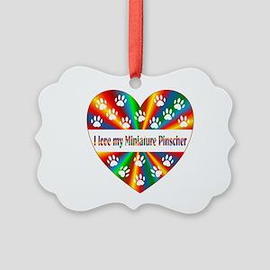 Miniature Pinscher Love Picture Ornament