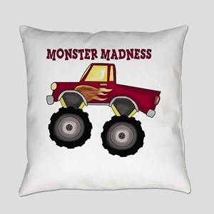 Monster Truck Madness Everyday Pillow